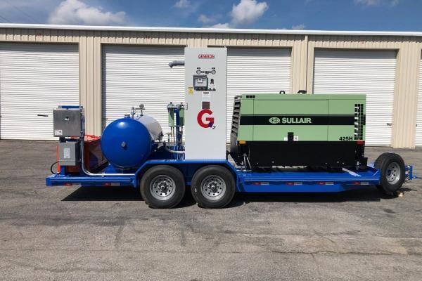 portable nitrogen generation trailer