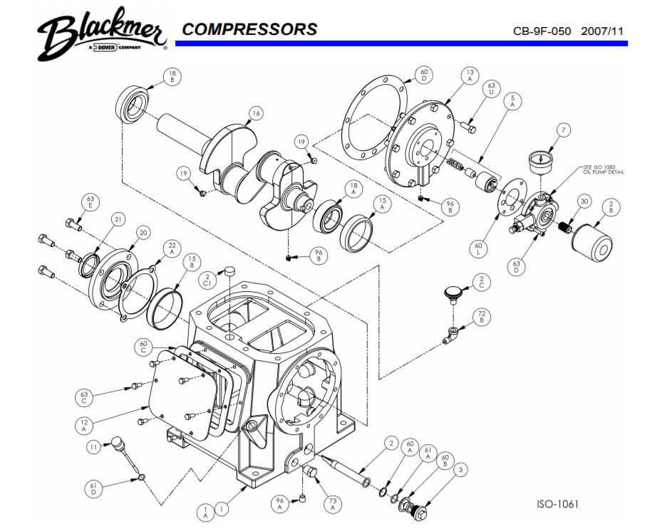 Blackmer Compressor part HD942B-1