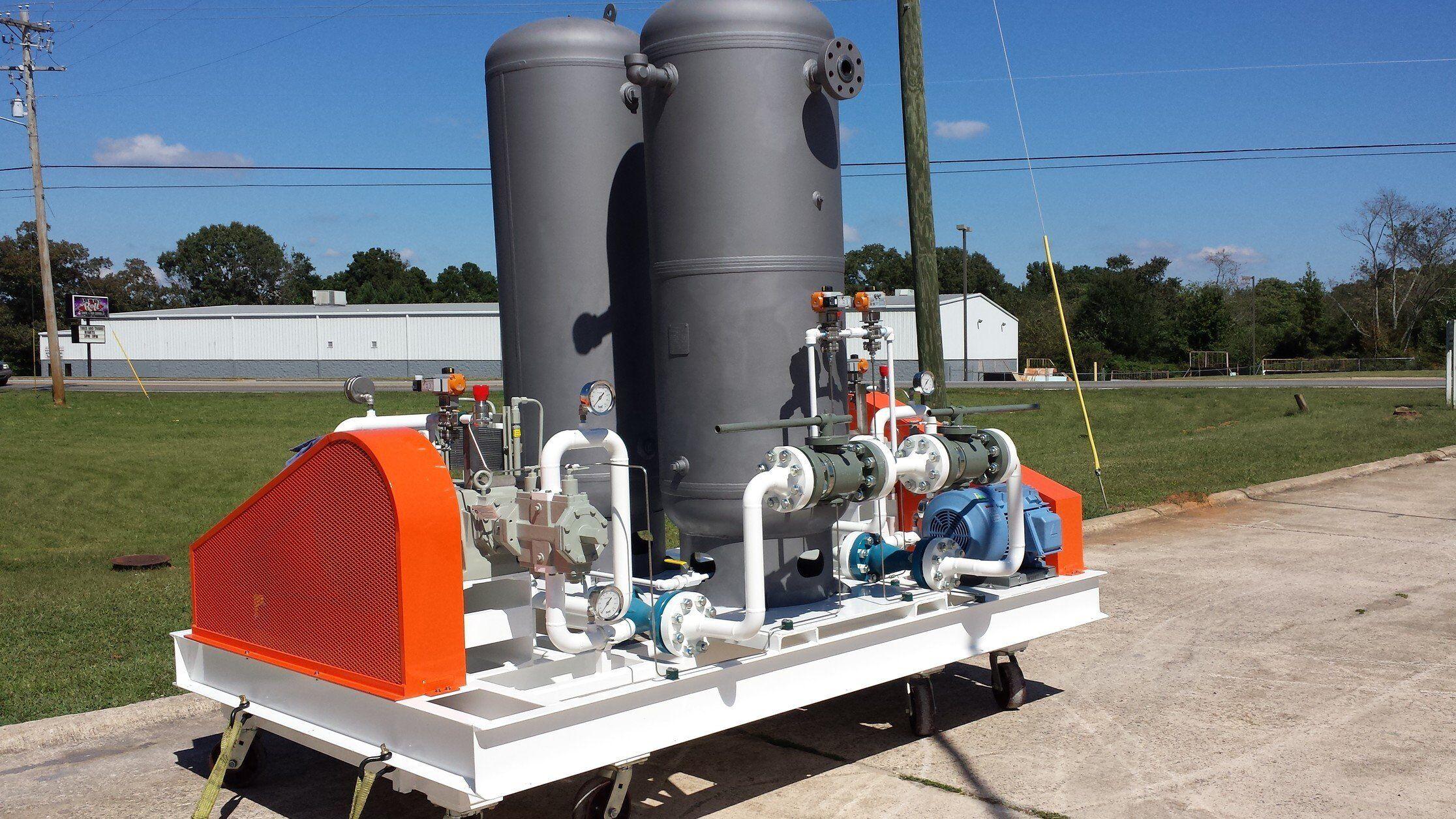 CO2 Booster Compressor Skid for Propylene Reactor - S&S