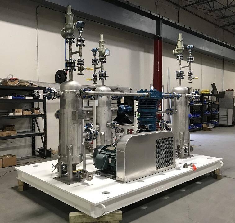 Custom Designed Vinyl Fluoride Recovery Compressor