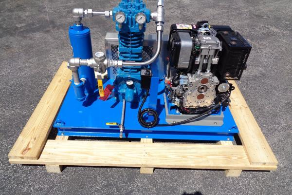 diesel compressor skid