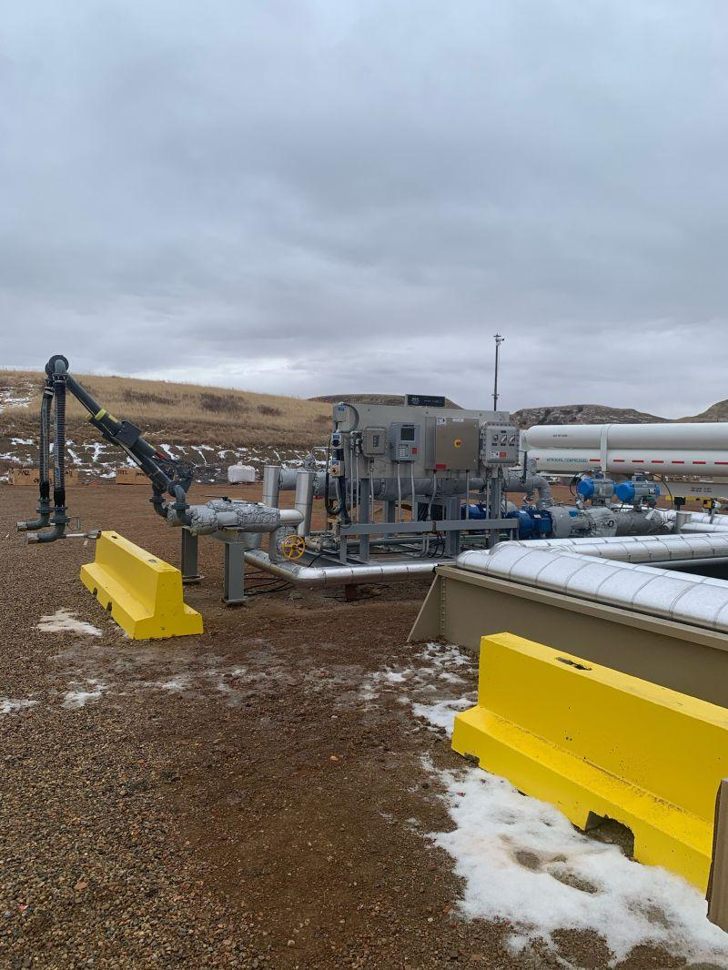 Dual Product Truck Loading Skid