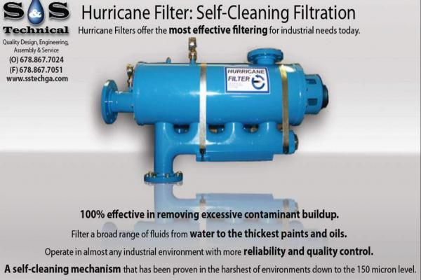 hurricane self cleaning filter