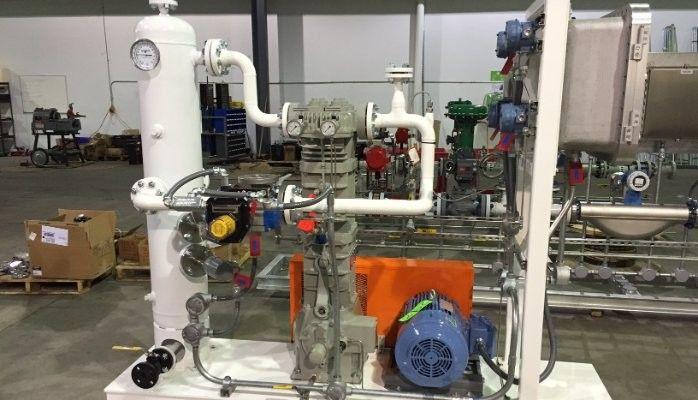 Isobutylene Liquid Transfer/Vapor Recovery Compressor Package
