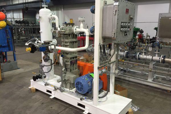 Isobutylene Liquid Transfer:Vapor Recovery Compressor Package
