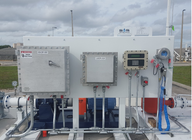 Jet Fuel Skid with Newson Gale Ground Verification System