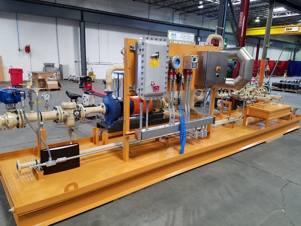 Loading Skid with Integrated Pump, Metering, Ground Verification:Overfill Protection