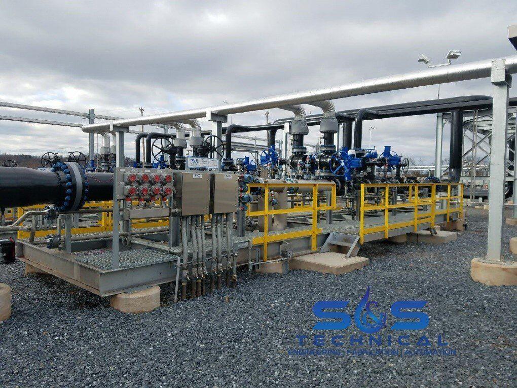 pipeline metering, pipeline skid, metering skid, pipeline meter skid, Coriolis meter