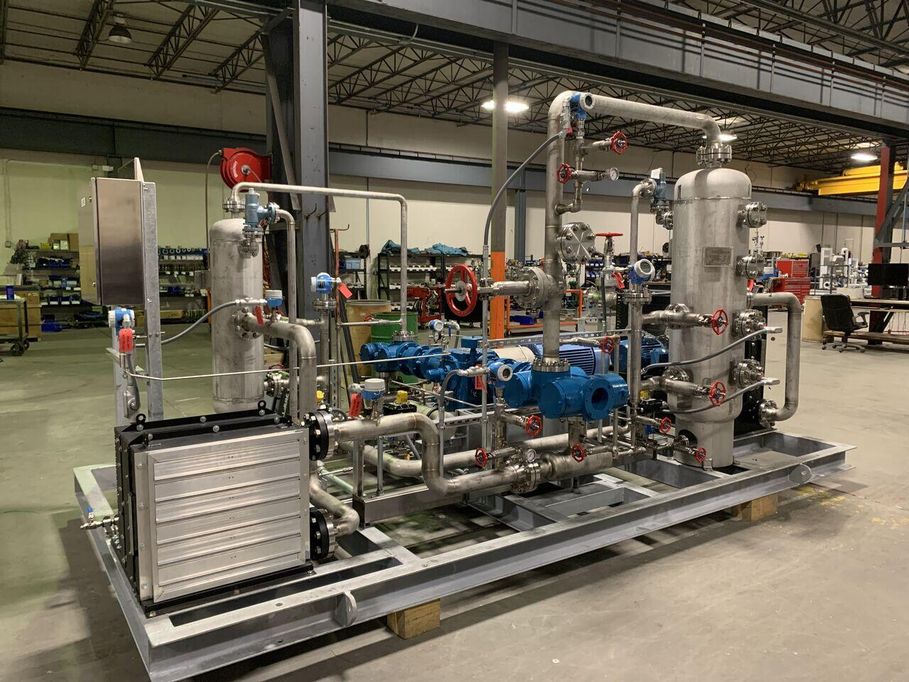 two-stage Isobutylene recovery compressor package